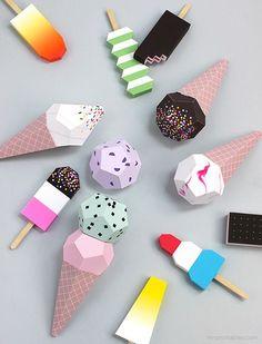 Paper Ice Creams - Mr Printables