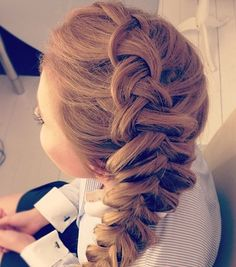 Volumized French braid