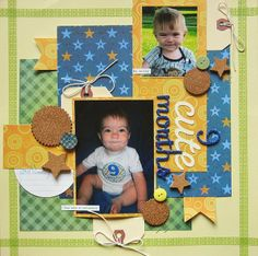 Scrapping with Christine: 9 Cute Months - a Paper House Productions Layout