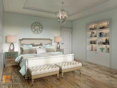 Фото: Гостевая спальня - Интерьер загородного дома в стиле американской неоклассики, п. Токсово, 215 кв.м.