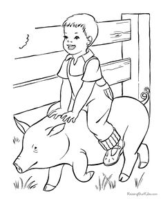 Free Printable Farm Coloring Pages | Farm coloring pages