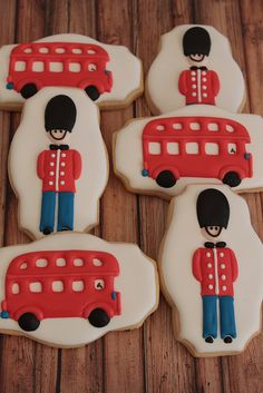 www.cakecoachonline.com - sharing....British themed cookies by Miss Biscuit