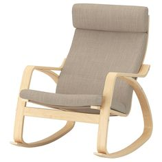 IKEA - POÄNG, Rocking-chair, birch veneer, Hillared anthracite, A range of various seat cushions makes it easy to change the look of your POÄNG and your living room. The frame is made of layer-glued bent birch which is a very strong and durable material. Ikea Family, 54 Kg, Bent Wood, Fabric Armchairs, White Stain, Kallax, Cushion Fabric, Polyurethane Foam, Chairs