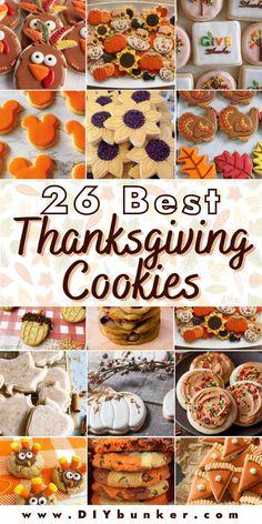 Acorn Cookies, Pecan Pie Cookies, Cinnamon Sugar Cookies, Pumpkin Sugar Cookies, Turkey Cookies, Thanksgiving Cookies, Thanksgiving Recipes, Sunflower Cookies, Pumpkin Snickerdoodles