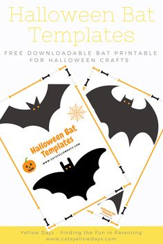 Free printable Halloween Bat Templates for you bat decor and crafts. Bat cut out to use as a stencil for all your Halloween projects. Halloween Cut Outs, Halloween Crafts For Kids To Make, Halloween Bats, Halloween Activities, Halloween Projects, Halloween 2018, Halloween Ideas, Halloween Stuff, Halloween Foods