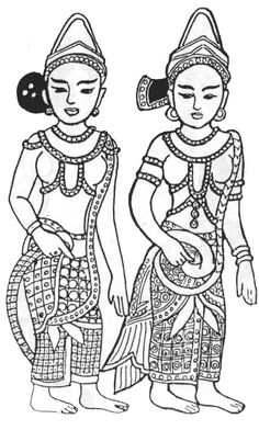 Women in clay relief excavated at Bago  Inwa Period