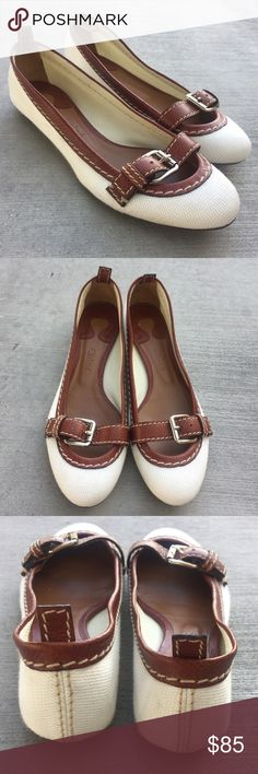 Chloe canvas loafers Gently worn , size 7.5 , in good condition , some markings on the back heels and bottom sole as shown in pictures , please 👀 look at all pictures , no returns Chloe Shoes
