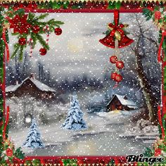 Xmas Gif, Merry Christmas Gif, Holiday Gif, Merry Christmas Pictures, Christmas Scenery, Whimsical Christmas, Christmas Art, Christmas Themes, Vintage Christmas