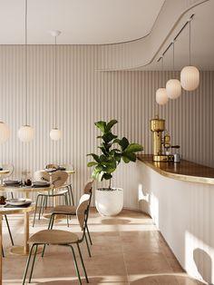 Coffee Shop Interior Design, Coffee Shop Design, Commercial Interior Design, Commercial Interiors, Decoration Restaurant, Bar Restaurant Design, Boutique Interior, Luxury Cafe, Deco Cafe