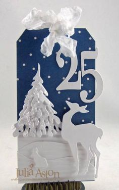 White and Blue Tag by artystamper - Cards and Paper Crafts at Splitcoaststampers