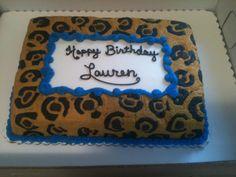 Cheeta Print Birthday Cake
