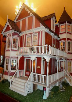 """Dollhouse House of Broel by Artist Bonnie Broel """"House of All Seasons"""" For Sale, One Hundred eighty seven thousand five hundred dollars."""