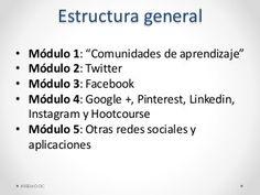 """Presentación del módulo 0 o guía de aprendizaje del curso MOOC de Miriada X """"Aplicación de las Redes Sociales a la enseñanza """". Enlace al curso: https://www.mi…"""