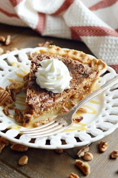 This recipe for Butterscotch Pecan Pie is a fun twist on an old family favorite. It's one of my favorite recipes this season!