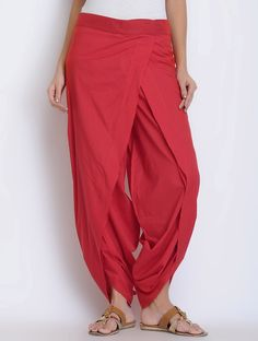 Buy Red Cotton Dhoti Pants Online at Jaypore.com