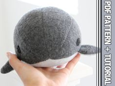 This listing is for a PDF file of the PATTERN and TUTORIAL on how to make one for yourself!(NOT THE PLUSH ITSELF)<<< Introducing Bubble Narwhals/ Whales! Theyre Round, Fat, Poke-able, Huggable, Squeezable, Throwable, and ADORABLE! • Final product measures about 4-4.5 inches