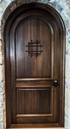 Rustic Medieval Walnut, Hand-Crafted, Custom-Woodworking Modern Entrance Door, Modern Front Door, Modern Entryway, Grand Entrance, Entrance Doors, Barn Doors, House Main Door, House Front, Arched Doors