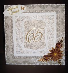 65th B irthday I Card, Frame, Projects, Home Decor, Picture Frame, Log Projects, Blue Prints, Decoration Home, Room Decor