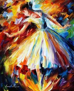 This painting makes me want to dance! ♫ ♪ 'Surrounded by Music' is an original (knife) oil painting on canvas by Leonid Afremov #OilPaintingKnife