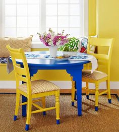 Turn a utilitarian table into a stylish piece for your dining room or breakfast nook.