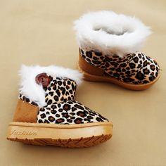e904c3fe3d853 Mode Enfants D hiver Chaussures Léopard Enfants Bottes de Neige pour Filles  Garçons chaussures Chaudes