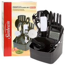 Bulk Dollar Tree Online Exclusive: Sunbeam Cooks Black Kitchen Utensil Sets at DollarTree.com