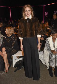 Olivia Palermo at the Milly By Michelle Smith show in New York. See all of the model's most enviably perfect looks.