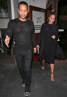 Chrissy Teigen wearing a Haider Ackermann Pussy-bow Crepe Shirt Dress http://api.shopstyle.com/action/apiVisitRetailer?id=491321075&pid=uid7729-3100527-84. #style #celebstyle