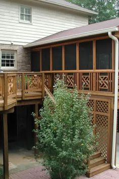 Beautiful DIY Wood Deck Projects you might try for your backyard Wood Deck Designs, Pergola Designs, Wood Deck Plans, Diy Deck, Patio Decks, Koi Pond Design, Landscape Design, Deck Lighting, Lighting Ideas