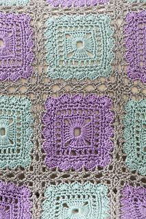 Lacy Squares Throw by Katherine Eng by Red Heart | I love these colors!