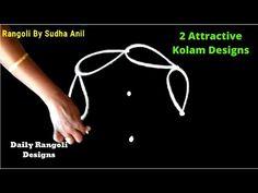 Two 3 Dots Daily Rangoli Designs - Beginners Small Muggulu & Kolam By Sudha Anil Rangoli or Kolam or Muggu or muggulu is a popular ancient art form of . Rangoli Borders, Rangoli Kolam Designs, Kolam Rangoli, Rangoli With Dots, Simple Rangoli, Art Forms Of India, Padi Kolam, Special Rangoli, Muggulu Design