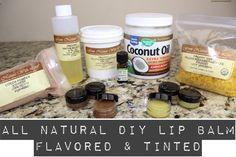 All Natural DIY Lip Balm Flavored & Tinted | Lip Care Series v2 | MariaA...