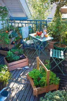 12 ideas for a flowered balcony in the city - Farm Pictures, Garden Pictures, Potager Garden, Balcony Garden, Landscape Design, Garden Design, Small Outdoor Spaces, Outdoor Furniture Sets, Outdoor Decor