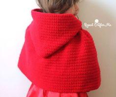 Mantellina cappuccetto rosso a uncinetto Schema