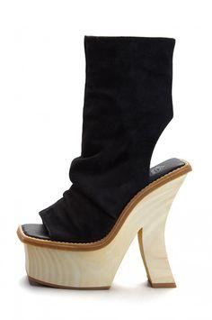 Jeffrey Campbell Shoes TEVIOT Platforms in Black Suede
