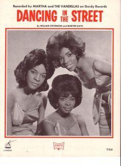 "Martha & The Vandellas ""Dancing In The Street"" (1964) sheet music"