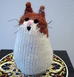 Acornbud's Yarns: Brownie the Cat, A Knitted Cat Pattern
