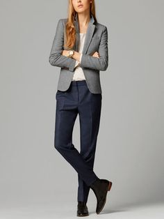 The Spring/Summer 2020 Massimo Dutti clothing, accessories and shoe collection for women, men or kids; must-haves to renew your wardrobe this season. Business Casual Outfits, Classy Outfits, Pijamas Women, Navy Dress Pants, Leather Jacket Outfits, Tomboy Fashion, Minimal Fashion, Everyday Outfits, Women Wear
