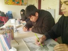 The Athena High School students were drawing today, and they came up with some fabulous pieces!