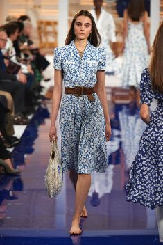 Model in Look 04 from Ralph Lauren's Spring 2018 Fashion Show