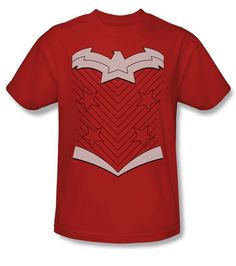 c654bc6398f7c Official Wonder Woman Justice League Costume DC Comics New 52 Adult T-shirt  Top Sizes