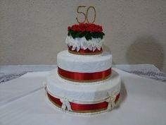 Bolo decorado - Bolo bodas de ouro (50 anos)