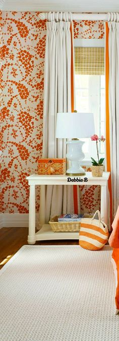 Orange Home Decor, Orange House, Country Charm, Carrot, Curtains, Carrots, Blinds, Draping, Picture Window Treatments