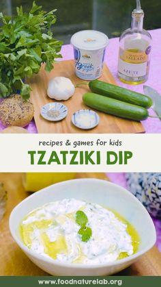 Easy Tzatziki Recipe, Tzatziki Recipes, Vegetarian Meals For Kids, Kids Meals, Yogurt, Healthy Snacks, Healthy Recipes, Toddler Snacks, Cucumber Salad