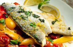 Lemon and basil roasted sea bass recipe - syn oil or use fry light