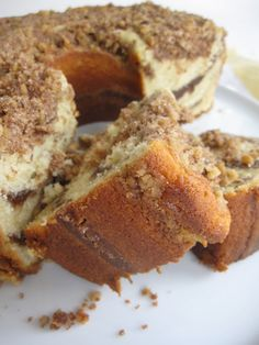 Sour Cream Coffee Cake  w Brown Butter Streusel  Recipe from Hungry Rabbit