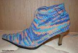 Graficos y Crochet: Paso a paso de zapatillas a botas