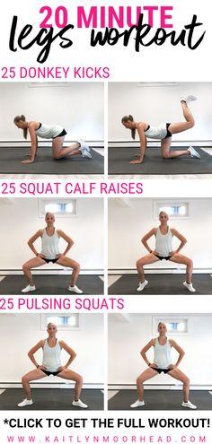 Slim Legs Workout, Best Leg Workout, Leg Workout Women, Body Weight Leg Workout, Skinny Leg Workouts, Leg Workout Challenge, Arm And Leg Workout, Home Weight Workout, 20 Minute Workout