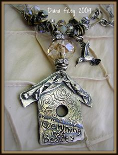 Everything Has Beauty PMC Pendant by Diana Frey, via Flickr