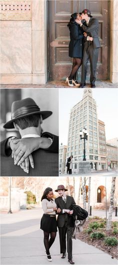Winter Downtown Asheville North Carolina Engagement Session